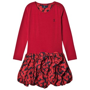 Image of Jessie & James Red Floral Scallop Jersey Scallop Dress 10 years (2743787529)