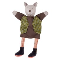 Moulin Roty The Gentleman Wolf Hand Puppet BROWN