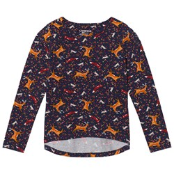 Lands' End Navy Forest Friends Pattern Tee