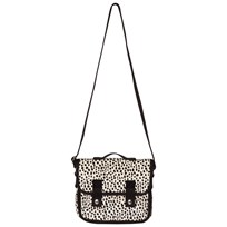 Lands End White Black Dots Cross Body Stachel Dalmation Dot