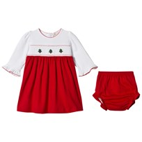 Kissy Kissy White Jersey Smock Front Christmas Dress RD