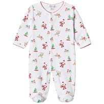 Kissy Kissy White Christmas Print Jersey Babygrow WH