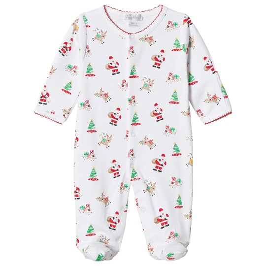Kissy Kissy White Christmas Print Jersey Footed Baby Body WH