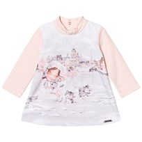Mayoral Pink Girl Print Dress 32