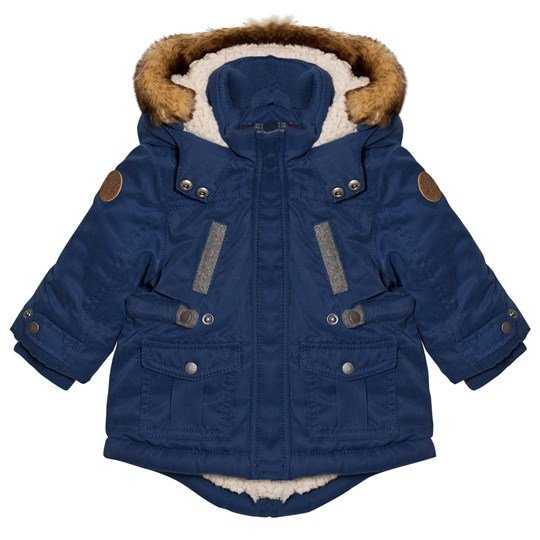 Mayoral Blue Padded Hooded Parka with Teddy Lining 93