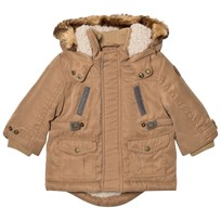Mayoral Camel Padded Hooded Parka with Teddy Lining 92