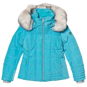 Image of Poivre Blanc Blue Padded Faux Fur Hood Ski Jacket 12 years (2780659559)