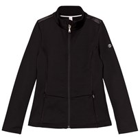 Poivre Blanc Black Stretch Fleece Full Zip Mid Layer 9000