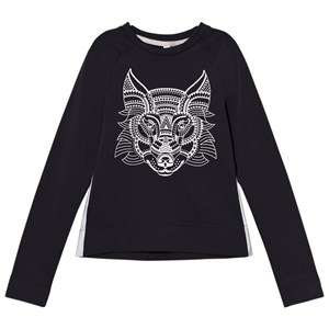 Image of Poivre Blanc Navy Base Layer Top with Metallic Wolf Print 12 years (2780660569)