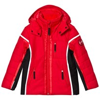 Poivre Blanc Red Insulated Side Panelled Ski Jacket 0038
