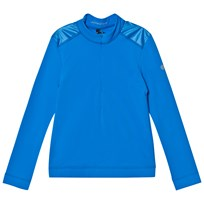 Poivre Blanc Blue 1/4 Zip Base Layer Top 0049