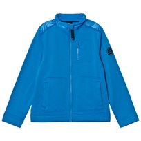 Poivre Blanc Blue Stretch Fleece Full Zip Mid Layer 0049