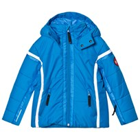 Poivre Blanc Blue Insulated Ski Jacket with Embroidered Back 0049