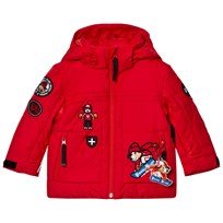 Poivre Blanc Red Insulated Ski Jacket with Embroidered Appliques 8910