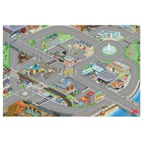 Le Toy Van Medium Size Car Playmat Black