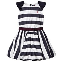 Jessie & James Birthday Dress Navy and White Stripes Navy