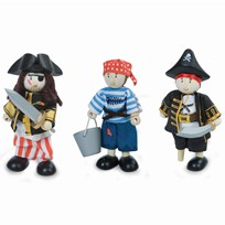 Le Toy Van Budkins® Pirate Triple Pack BROWN
