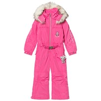 Poivre Blanc Pink Ski Suit with Embroidered Back and Front 0034