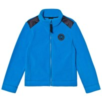 Poivre Blanc Blue Micro Fleece Full Zip Mid Layer with Embroidered Back 0051