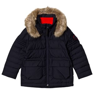 Image of Poivre Blanc Navy Infants Down Ski Jacket with Faux Fur Hood 6 years (2780660903)
