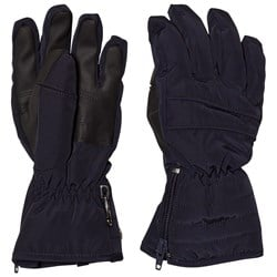 Poivre Blanc Navy Quilted Ski Gloves