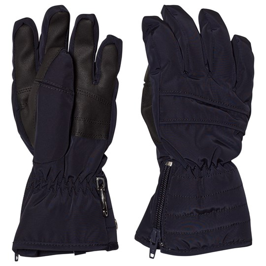 Poivre Blanc Navy Quilted Ski Gloves 0059