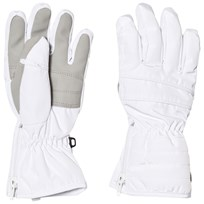 Poivre Blanc White Quilted Ski Gloves 0001