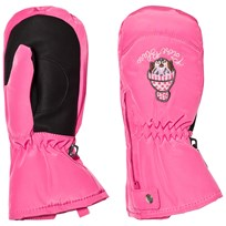 Poivre Blanc Pink Infants Ski Mittens with Embroidery 0034