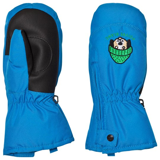 Poivre Blanc Blue Infants Ski Mittens with Embroidery 0049