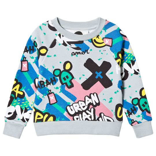 Koolabah Graffiti Sweater Grey Multicolor Grey Multicolor