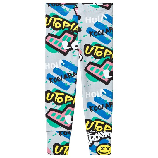 Koolabah Graffiti Leggings Grey Multicolor Grey Multicolor