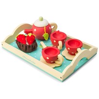 Le Toy Van Honeybake® Wooden Tea Set Red