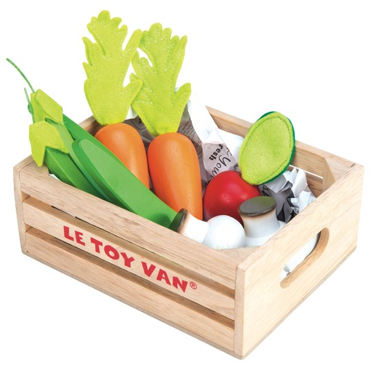 Le Toy Van Honeybake® Five-a-Day Vegetables Crate Beige