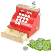 Le Toy Van Wooden Toy Cash Register Punainen