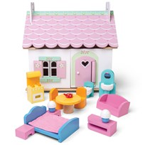 Le Toy Van Daisylane Lily's Cottage Dockhus Playhouse White