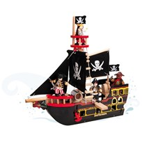 Le Toy Van Barbarossa Piratskepp BROWN