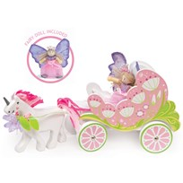 Le Toy Van Fairybelle Carriage & Unicorn Pink