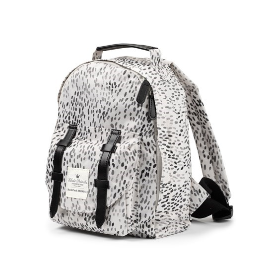 Elodie Back Pack Mini - Dots of Fauna Vit/grå