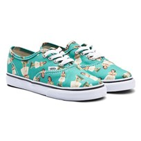 Vans Authentic Hula Girl Print Sneakers TURQUOISE/TRUE WHITE