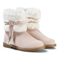 Mayoral Pink Faux Fur Cuff Boots 11