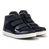 Mayoral Navy 3 Velcro Hi Tops Shoes 11