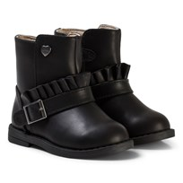 Mayoral Black Ruffle Buckle Biker Boots 73