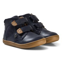 Mayoral Navy Velcro Leather Boots 70
