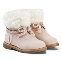 Mayoral Pink Faux Fur Cuffed Boots 82