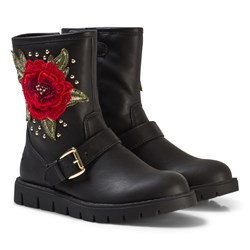Lelli Kelly Leather Matilde Rose Ankle Boots Black