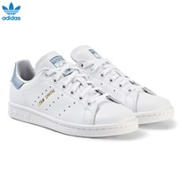 adidas Originals White and Blue Junior Stan Smith Trainers FTWR WHITE/FTWR WHITE/TACTILE BLUE S17