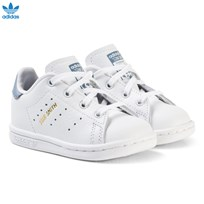 adidas Originals White and Blue Infants Stan Smith Trainers FTWR WHITE/FTWR WHITE/TACTILE BLUE S17