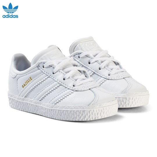 adidas Originals White Gazelle Infant Trainers FTWR WHITE/FTWR WHITE/FTWR WHITE