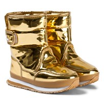 Rubber Duck Snow Jogger Boots Metallic Gold Gold