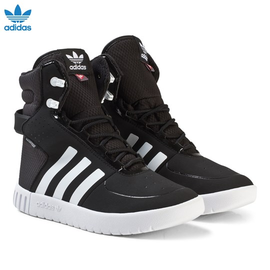 adidas Originals Black and White Trail Breaker Junior Hi-Tops CORE BLACK/FTWR WHITE/UTILITY BLACK F16